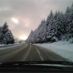 The snow is beautiful but makes for treacherous driving.