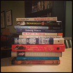 A pile of Shannon Wilkinson's influential books.